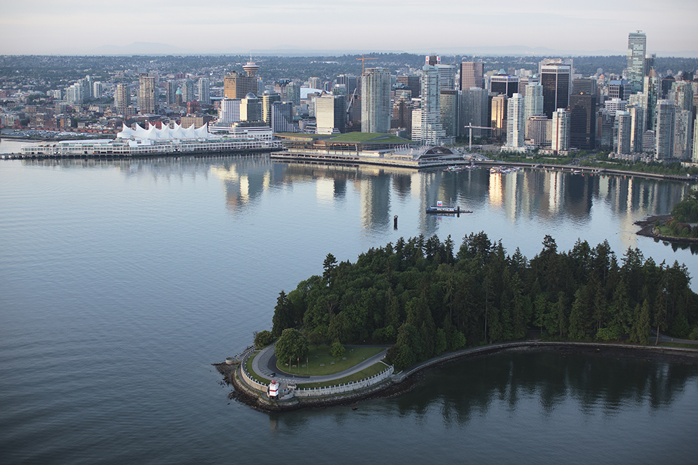Vancouver Coal Harbour aerial shot