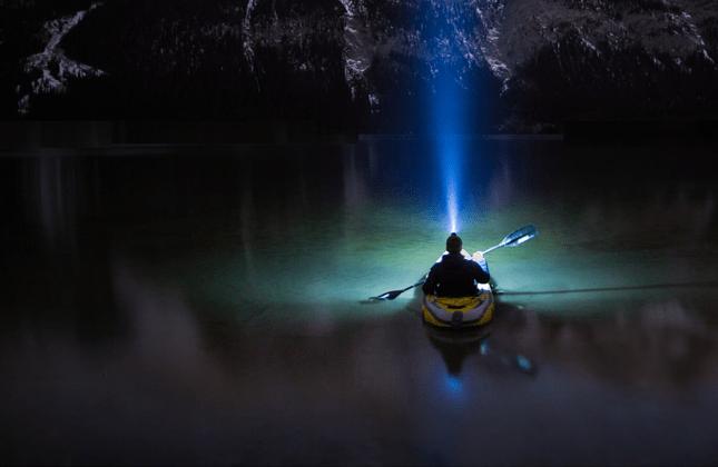 Kayaker at Night